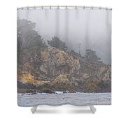 Foggy Day At Point Lobos Shower Curtain