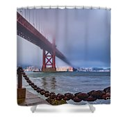 Foggy Day At The Golden Gate Bridge Shower Curtain
