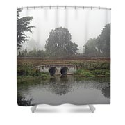 Foggy Day On A Canal Shower Curtain