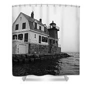 Foggy Day Sail Shower Curtain