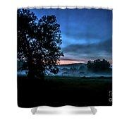 Foggy Evening In Vermont - Landscape Shower Curtain