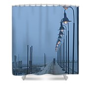 Foggy Evening Shower Curtain