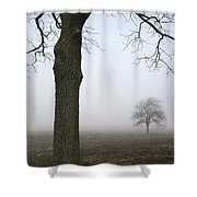 Foggy Field Shower Curtain