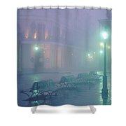 Foggy French Quarter Shower Curtain