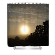 Foggy June Sunrise Shower Curtain