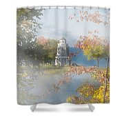 Foggy Morning At The Lake Shower Curtain