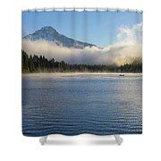 Foggy Morning At Trillium Lake Shower Curtain
