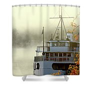 Foggy Morning Cruise Shower Curtain