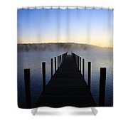 Foggy Morning Docks 1 Shower Curtain