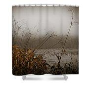 Foggy Morning Marsh Shower Curtain