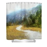 Foggy Morning On Mount Mansfield - 2014 Shower Curtain