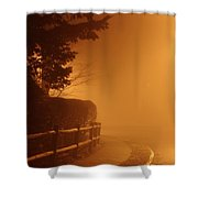 Foggy Night In White Plains Ny 2006 04 Shower Curtain