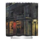 Foggy Night On Dumaine Shower Curtain