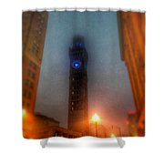 Foggy Night - The Bromo Seltzer Tower Shower Curtain