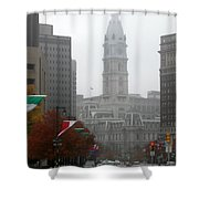 Foggy Philadelphia Shower Curtain