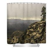 Foggy Rim Shower Curtain