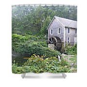 Foggy Stony Brook Grist Mill Cape Cod Shower Curtain