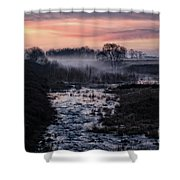 Foggy Sunrise At Chasewater Shower Curtain