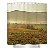 Foggy Valley Shower Curtain