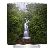 Foggy Waterfall Shower Curtain
