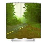 Foggy Way.  Shower Curtain