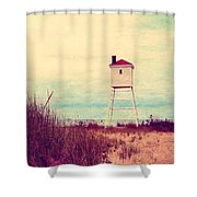 Foghorn At Big Sable Point Shower Curtain