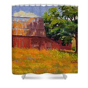 Foglesong Barn Shower Curtain