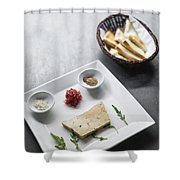 Foie Gras French Traditional Duck Pate With Bread  Shower Curtain