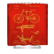 Folding Bycycle Patent Drawing 1c Shower Curtain