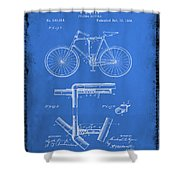 Folding Bycycle Patent Drawing 1d Shower Curtain