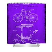 Folding Bycycle Patent Drawing 1e Shower Curtain