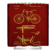 Folding Bycycle Patent Drawing 1f Shower Curtain