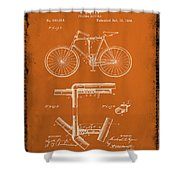Folding Bycycle Patent Drawing 1g Shower Curtain