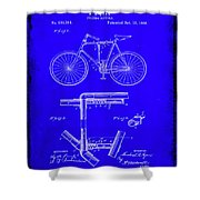 Folding Bycycle Patent Drawing 1h Shower Curtain