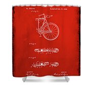 Folding Bycycle Patent Drawing 2b Shower Curtain