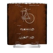 Folding Bycycle Patent Drawing 2c Shower Curtain