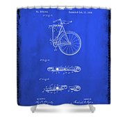 Folding Bycycle Patent Drawing 2d Shower Curtain