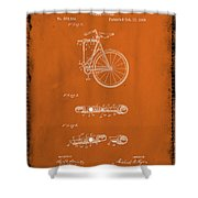 Folding Bycycle Patent Drawing 2e Shower Curtain