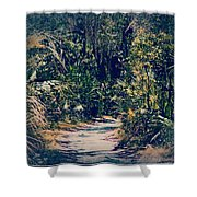 Foliage Pathway Shower Curtain