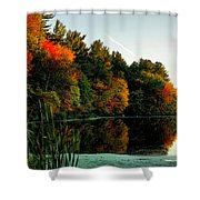 Foliage Reflections Shower Curtain