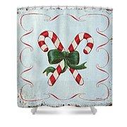 Folk Candy Cane Shower Curtain