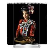 Folk Dancer Of The North East Shower Curtain