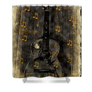 Folk Guitar Shower Curtain