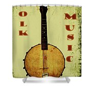 Folk Music Shower Curtain