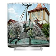 Follow Me Around The May Pole Shower Curtain