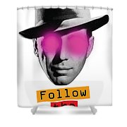 Follow The Leader - Poster Shower Curtain