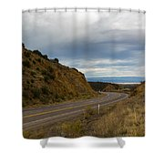 Follow The Winding Road Shower Curtain