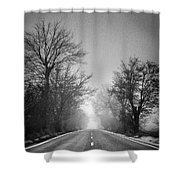 Follow Your Dreams    Monochrome Shower Curtain