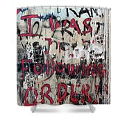 Following Order Shower Curtain
