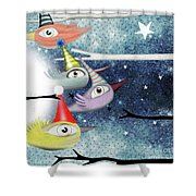 Following The Stars Shower Curtain